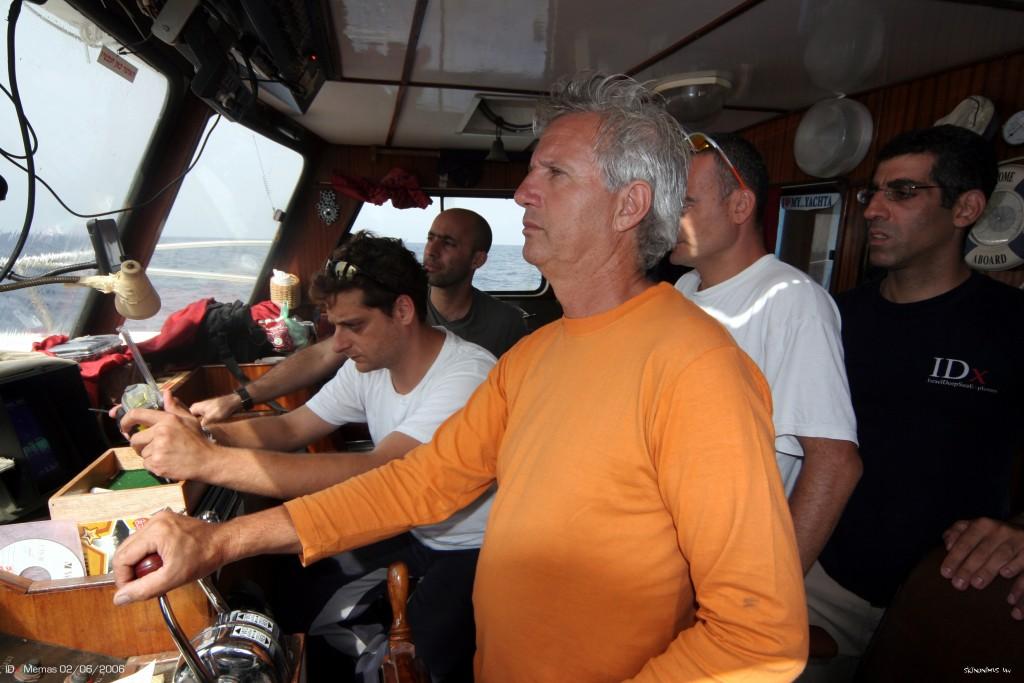 בגר של הטייפון מחפשים את האניה בדריכות דרור , שלומי, יגאל,אודי מארק